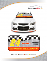 2017 Chase Elliott #24 Sunshade featuring Hooters